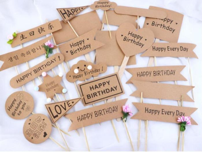 Toothpick flags - Disposable Flag picks decoration for party