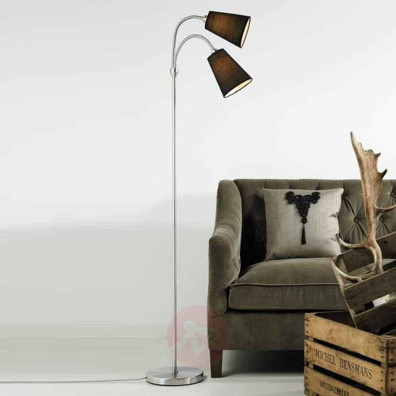 Two-bulb floor lamp Lelio with flexible arms - Floor Lamps