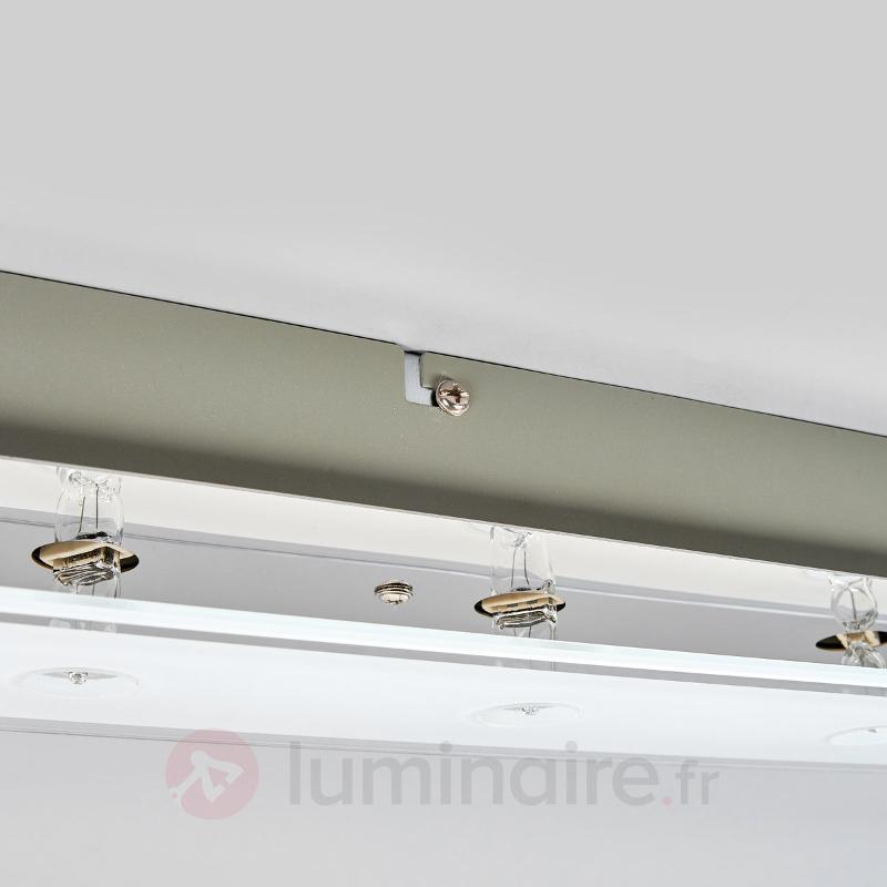 Plafonnier en verre Levy avec ampoules LED - Plafonniers LED