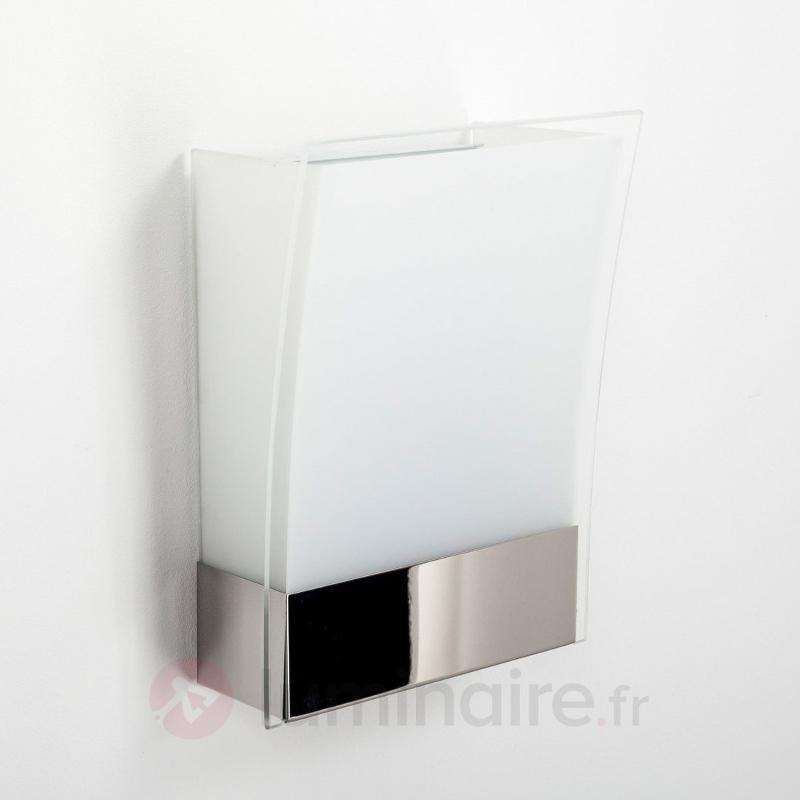 Applique Malthe moderne en verre et en métal - Appliques chromées/nickel/inox