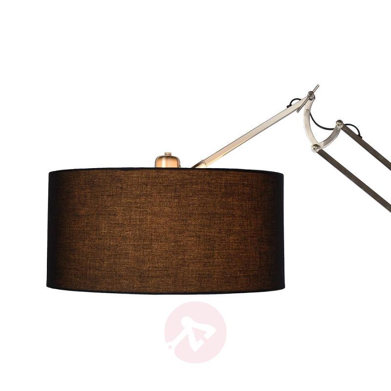 Max - height-adjustable floor lamp, fabric shade - design-hotel-lighting