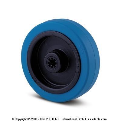 roue non tachante - effet amorti, confortable et silencieuse