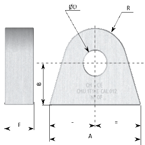 PITON DE LEVAGE EN ACIER - PITON type E en acier