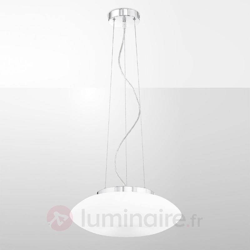 Suspension blanche Conny avec verre - Suspensions en verre
