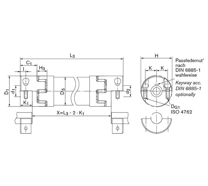 Line Shaft GWZ 5106.1 - GERWAH