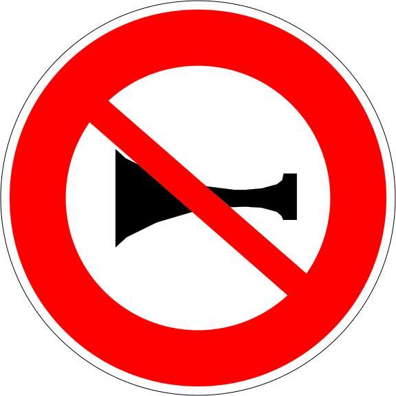 Panneau B16 Signaux Sonores Interdits - Balisage De Chantier Et Panneaux Routiers