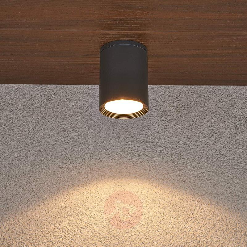 Minna dark grey ceiling light for outdoors - Outdoor Ceiling Lights