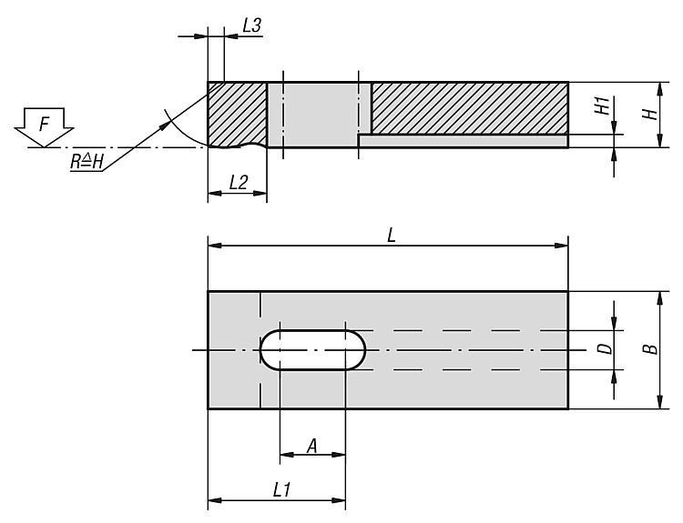 Clamp Straps Slotted Heel - Clamp straps Clamping devices