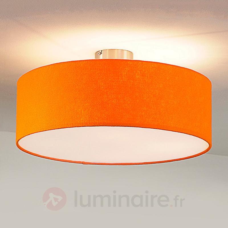 Plafonnier rond en feutre, orange - Plafonniers en tissu