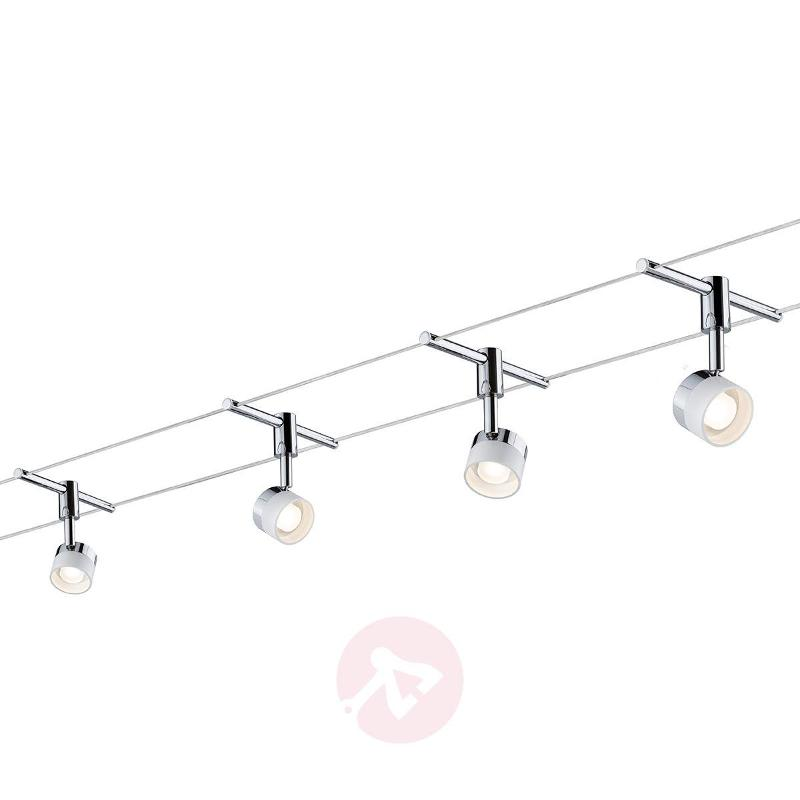 With 4 round lights - LED cable system Stage - Cable Lighting Kits