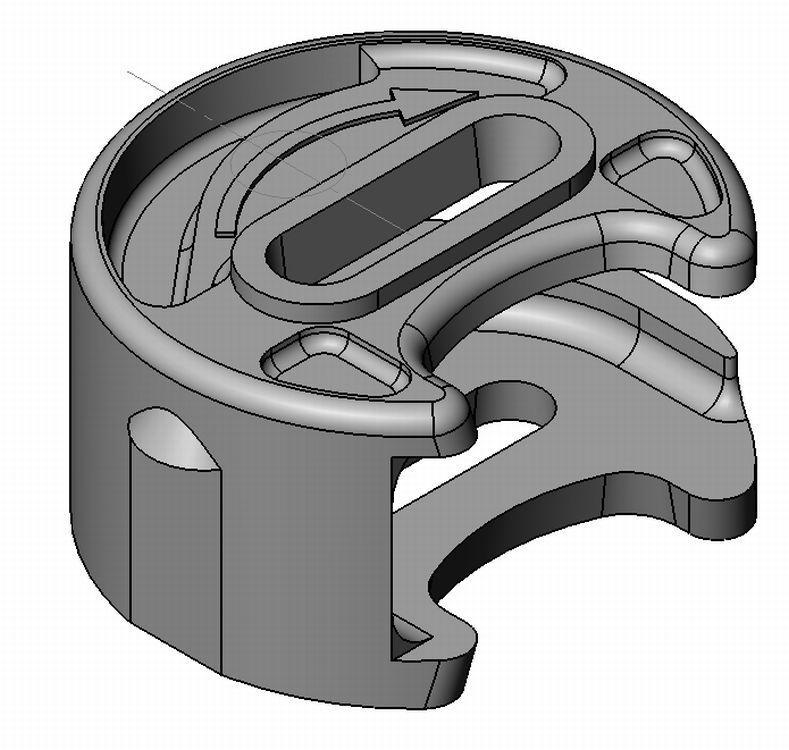 Exzenterinlet AZ 1/AZ 2- Zamak - 18mm - m. Schlitz - blank - Exzenter Zn 18 mm