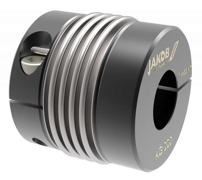 Metal bellows coupling KG - simple installation with radial EASY-clamping hub on both sides