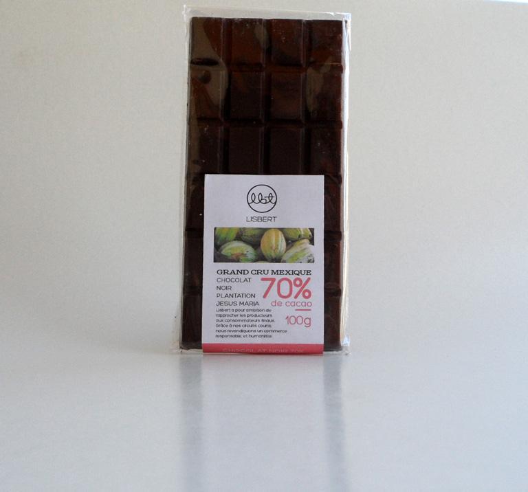 Chocolat Noir 70 % cacao pure origine Mexique -... - Épicerie sucrée