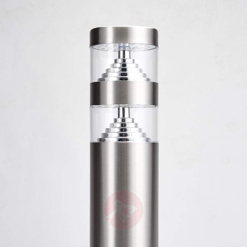 Lanea stainless steel pillar light with LEDs 40 cm - Pillar Lights