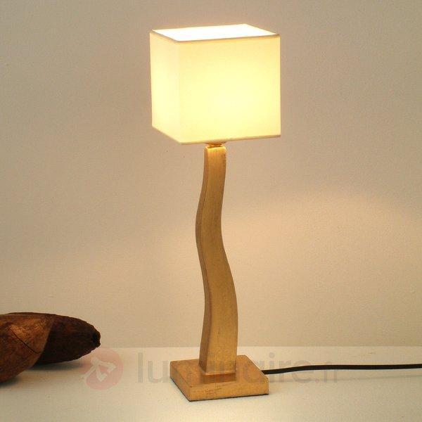 Élégante lampe à poser QUADRANGOCORTO, doré - Lampes à poser en tissu