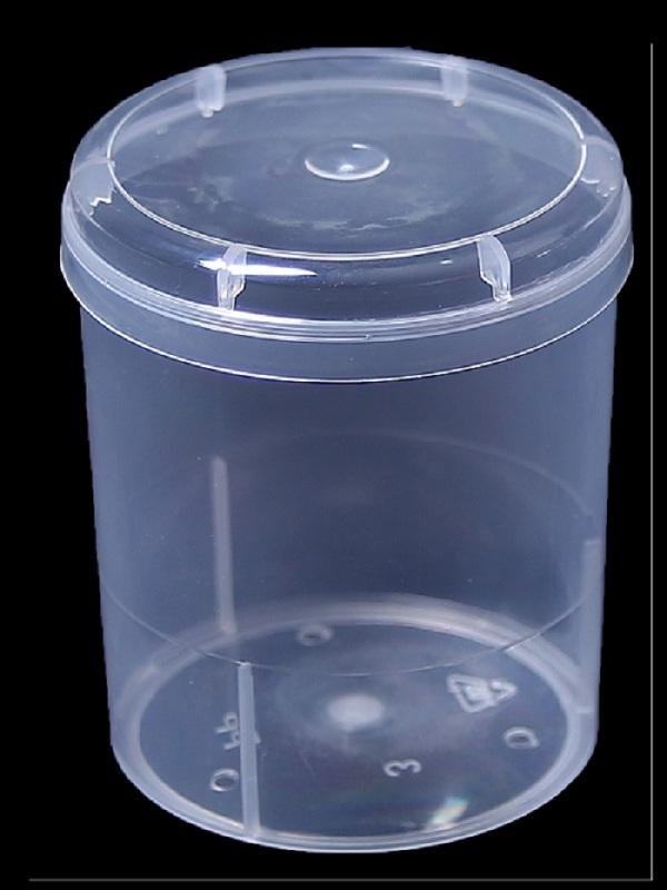 Round Plastic Box - Cotton bud or toothpick box,natural color