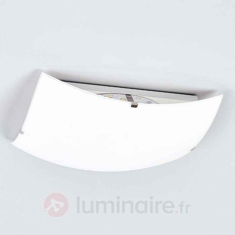 Plafonnier sobre en verre Malia avec LED - Plafonniers LED