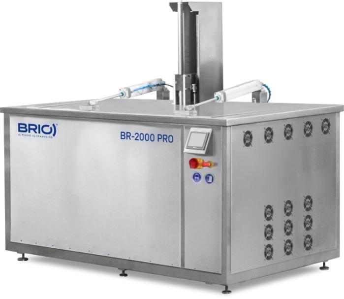 BR-2000 PRO - Máquina de limpieza por ultrasonidos automática de 2000 L