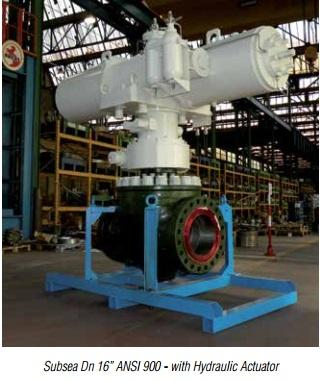 """Subsea Dn 16"""" ANSI 900 - with Hydraulic Actuator - Valves and Actuators"""