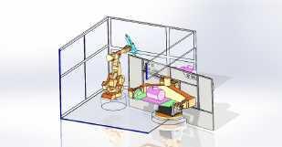 Robotic Welding Cell 9-Axes - null