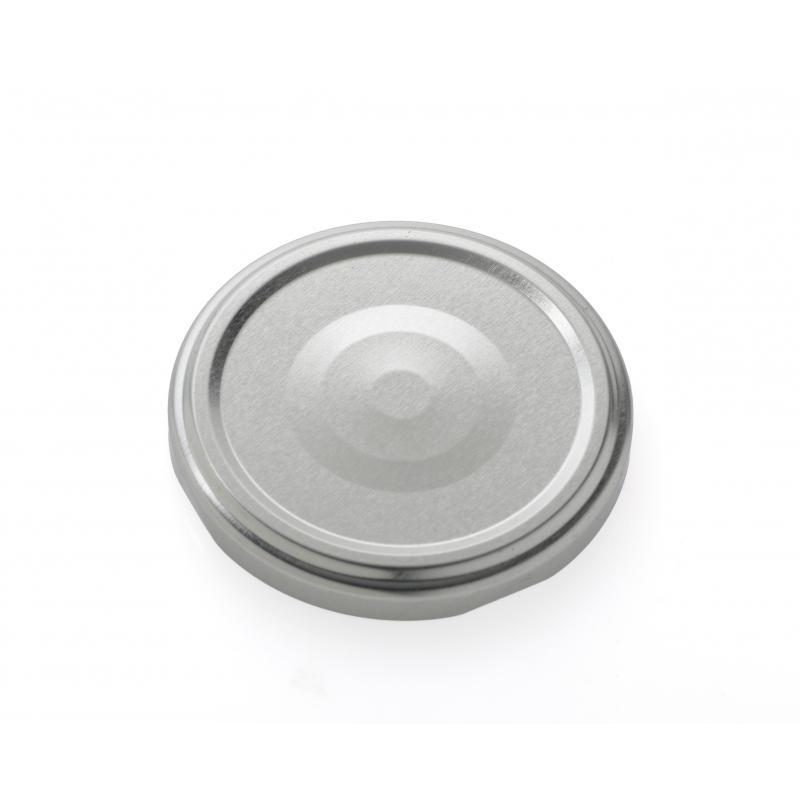 100 Capsules TO 82 mm argent pasteurisables avec Flip - ARGENT