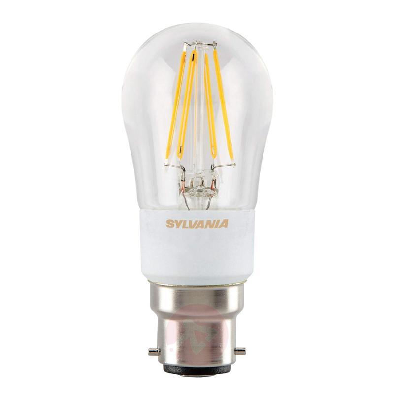 B22 4.5W 827 LED tear bulb, clear, dimmable - light-bulbs