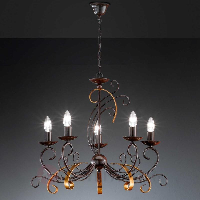 Lustre enchanteur GARRA 5 lampes - Lustres rustiques