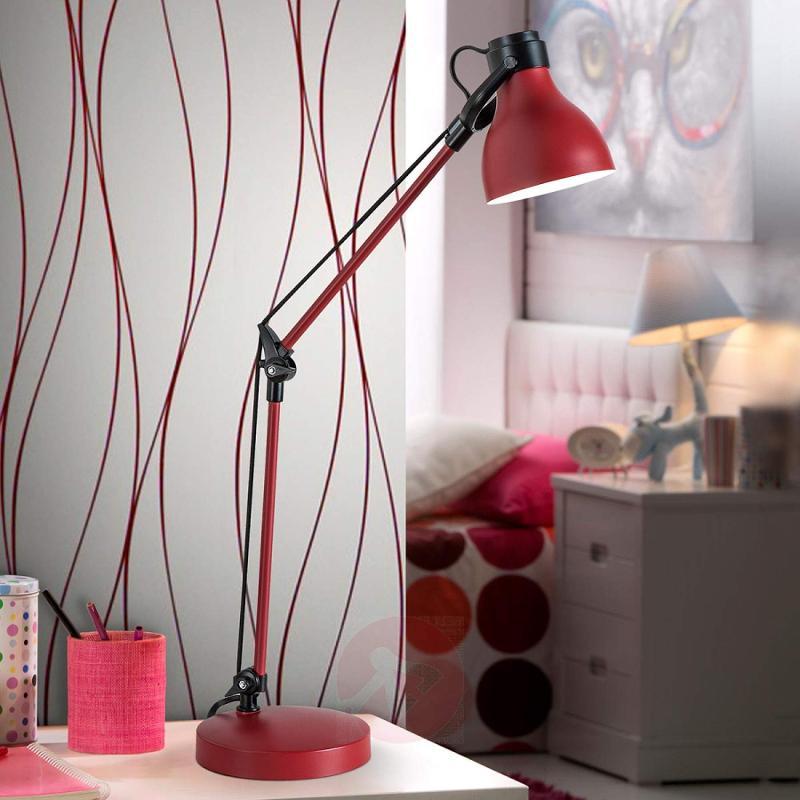 Adjustable Neo desk lamp in red - indoor-lighting