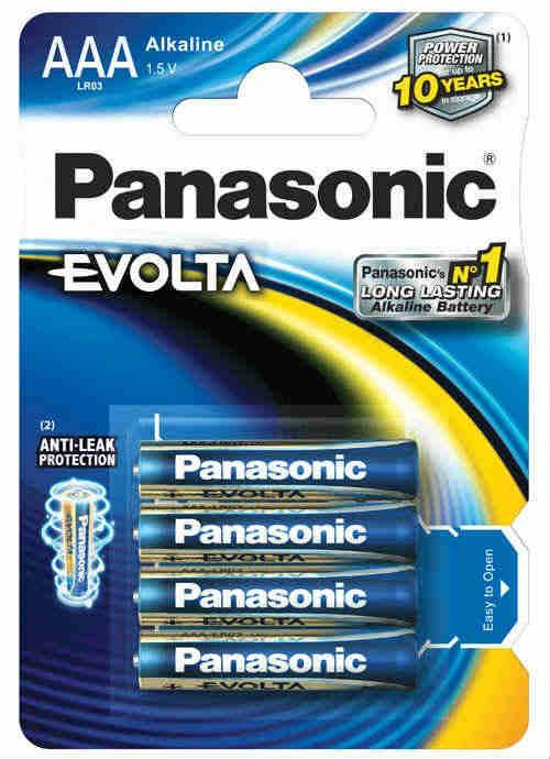 Batterie ministilo Evolta 4 pz - LR03EGE/4BP | Blister da 4 pile AAA Panasonic