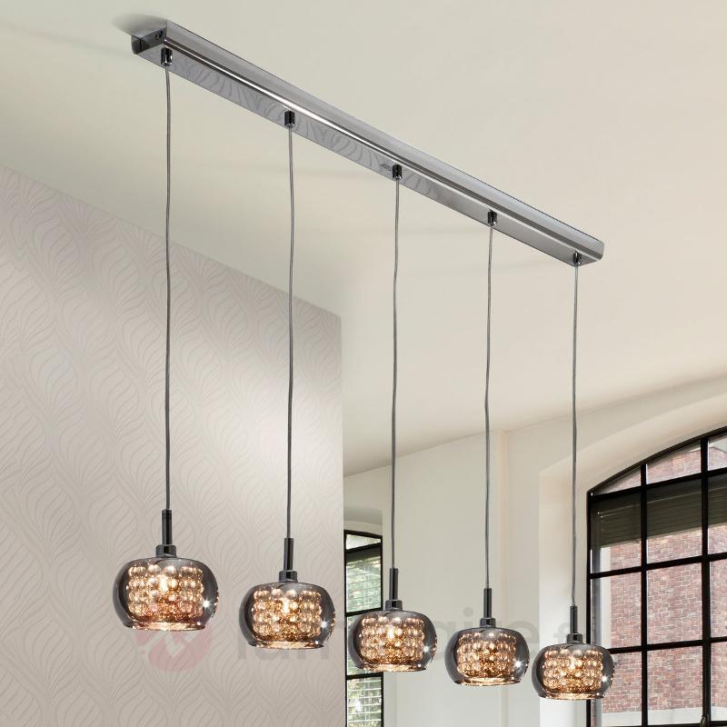 Suspension en verre Arian à cinq lampes - Suspensions en verre
