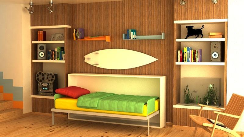 Horizontal wall bed -