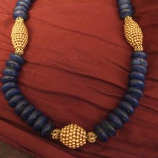 Colliers - Or18ct,lapis lazuli,Inde