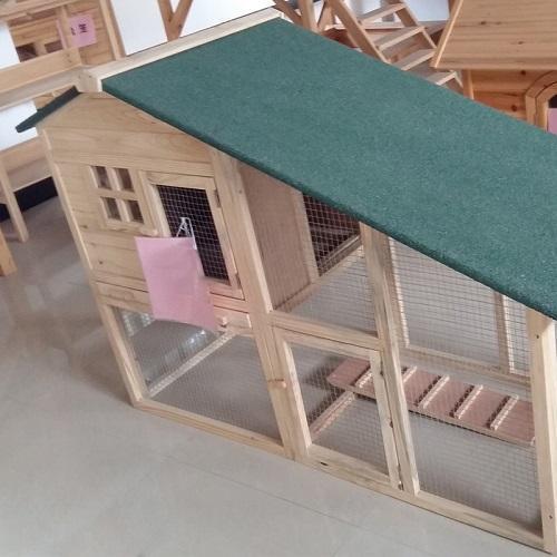 Triangle top coop - Dessus triangle en bois