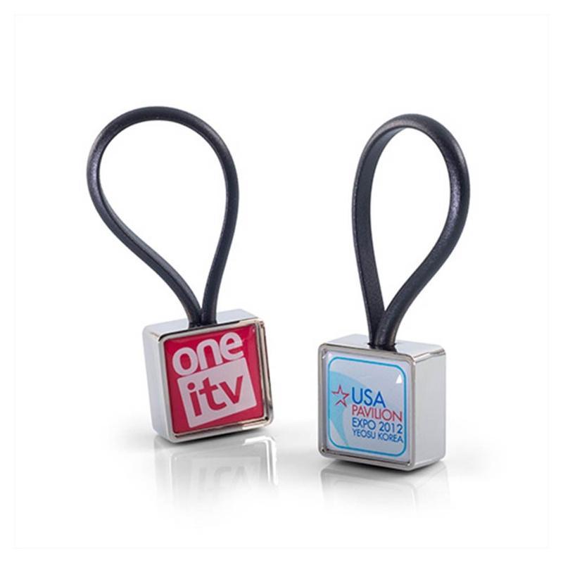 Porte-clés métal attache silicone - Porte-clés métal