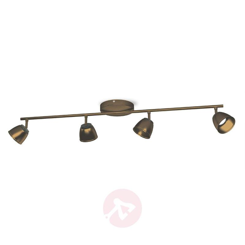 Bronze-coloured County LED ceiling light 4-bulb - Ceiling Lights