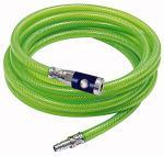 PVC braided hose set, neon green, Hose 15x9, Length 20 m - PVC safety air hose kits