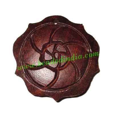 Handmade wooden fancy pendants, size : 42x8mm - Handmade wooden fancy pendants, size : 42x8mm