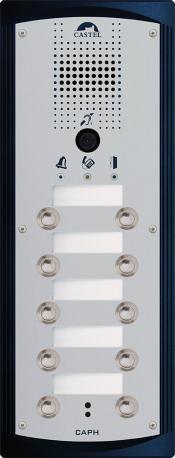 CAPH V10B - Portiers téléphoniques - Portier audio vidéo 10 boutons d'appel conforme loi Handicap