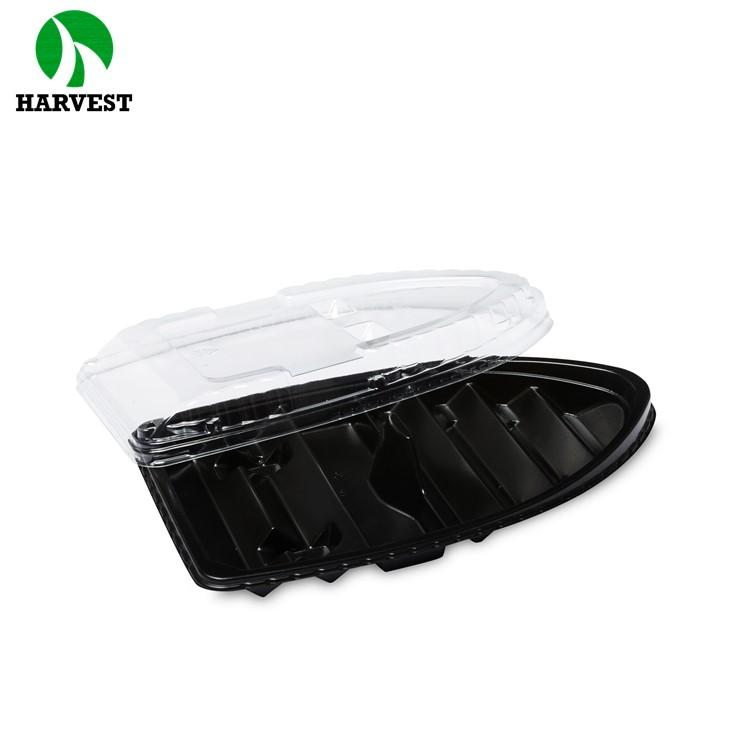 Boat Shape Disposable Plastic Sushi Trays With Pp Material - Sushi Trays