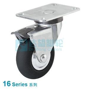 16 series neoprene rubber wheel caster