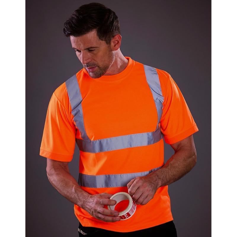 Tee-shirt avec bandes réléchissantes - Vestes