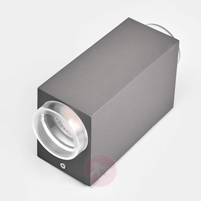 2-light dark grey outdoor wall lamp Jovan - Outdoor Wall Lights