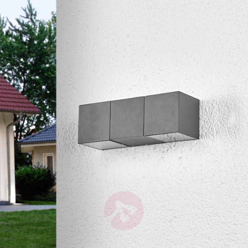 2-bulb Elian LED outdoor wall light - outdoor-led-lights