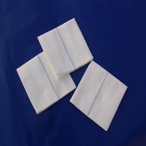 10*10cm blue-line gauze swabs - The 100% pure-cotton medical absorbent gauze has undergone high-temperature dryi