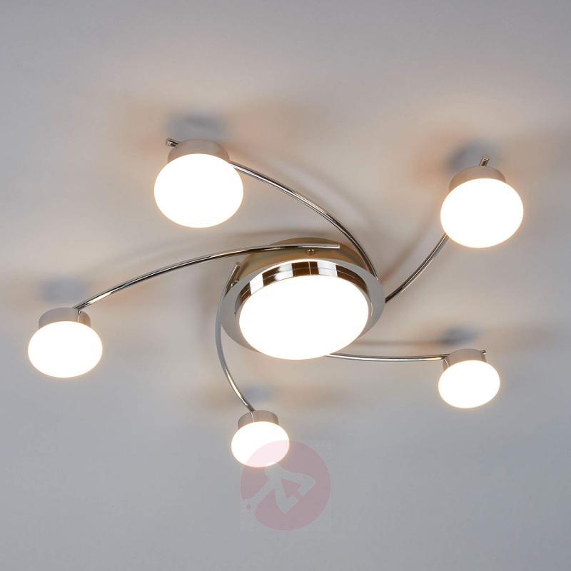 Round LED ceiling light Vitus, 6-bulb - indoor-lighting