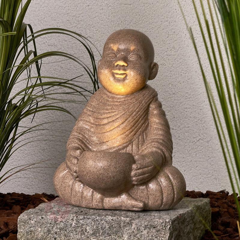 Lampe solaire décorative LED Petit Bouddha - Lampes solaires décoratives
