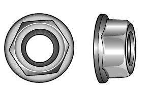 Hexagon nuts with flange and serration - Material A2 | A4