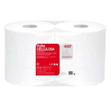 4007 e 4002- carta igienica maxi jumbo - in pura cellulosa o ovatta ecologica