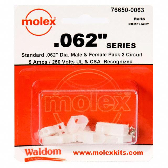 "KIT CONN STD .062"" 2 CIRCUITS - Molex Connector Corporation 76650-0063"