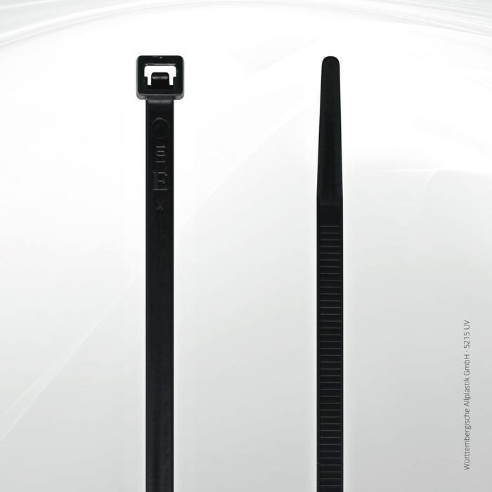 UV resistant cable ties Allplastik-Kabelbinder® - 5215 UV (black)